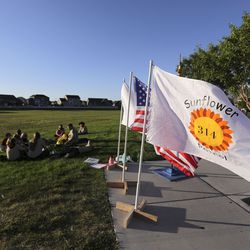 The all-female Boy Scout Troop 314 meets at Parkview Park in Stansbury Park on Monday, July 6, 2020.