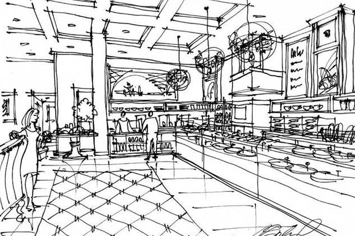 A rendering of the Campbell location.