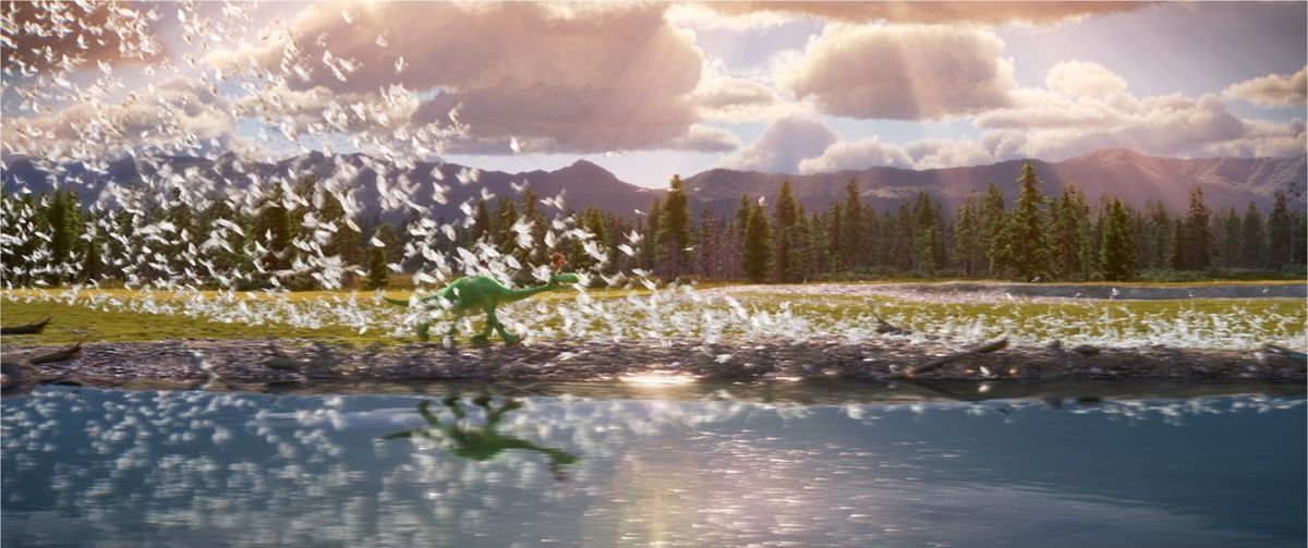 The Good Dinosaur is a beautiful movie.