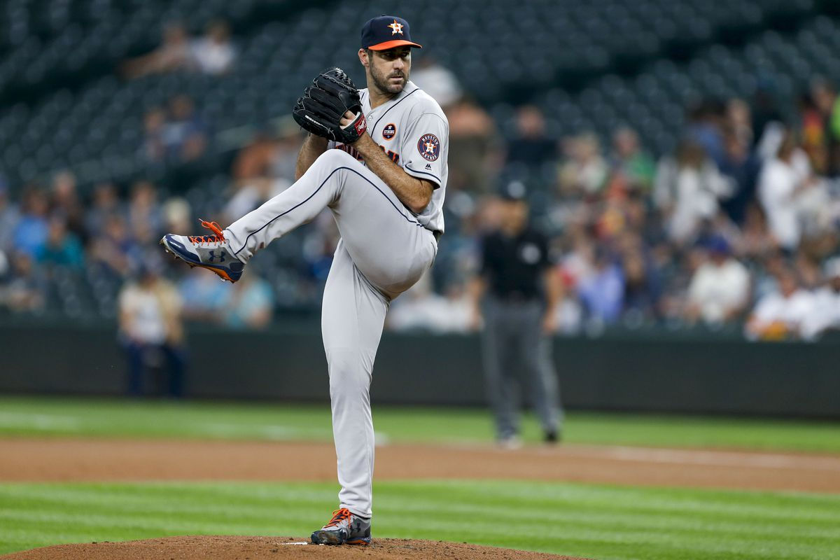 super popular 72b9c 33887 Justin Verlander dominates Mariners in Astros debut - Bless ...
