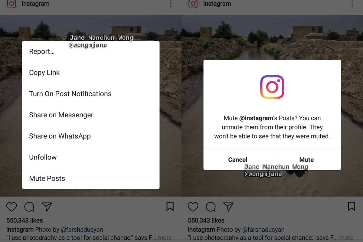 Image result for mute instagram features
