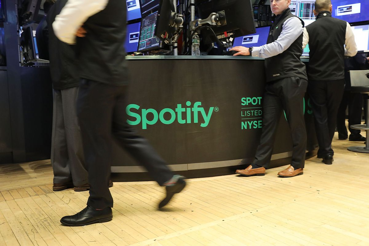 Music streaming service Spotify going public on the New York Stock Exchange