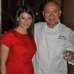 BarMasa chef and creator Masa Takayama and host Gail Simmons at the Ultimate Champagne and Sashimi event.