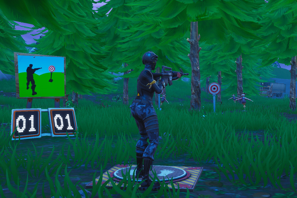 get a score of 5 or more at the shooting galleries fortnite challenge guide - division 5 fortnite scoring