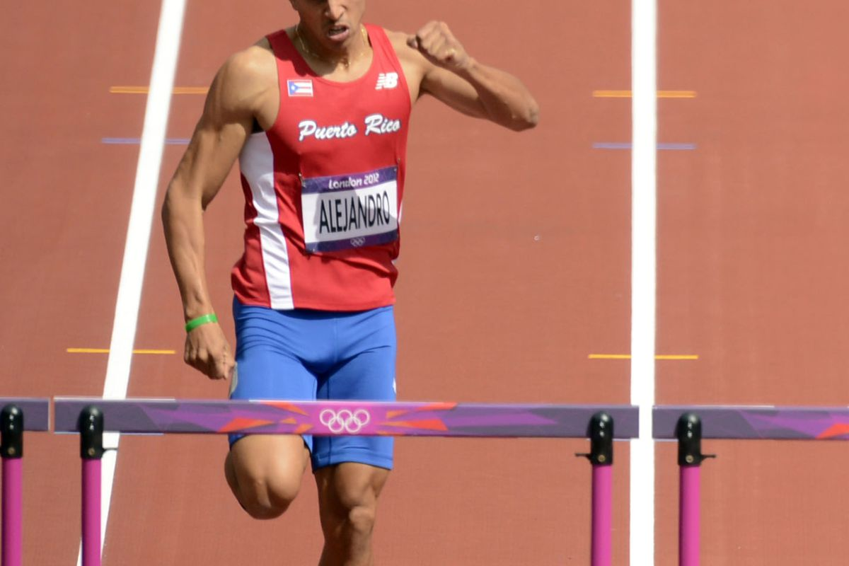 Eastern Michigan's Eric Alejandro, representing Puerto Rico, made it to the semifinals of the 400-meter hurdles in the 2012 Olympics.