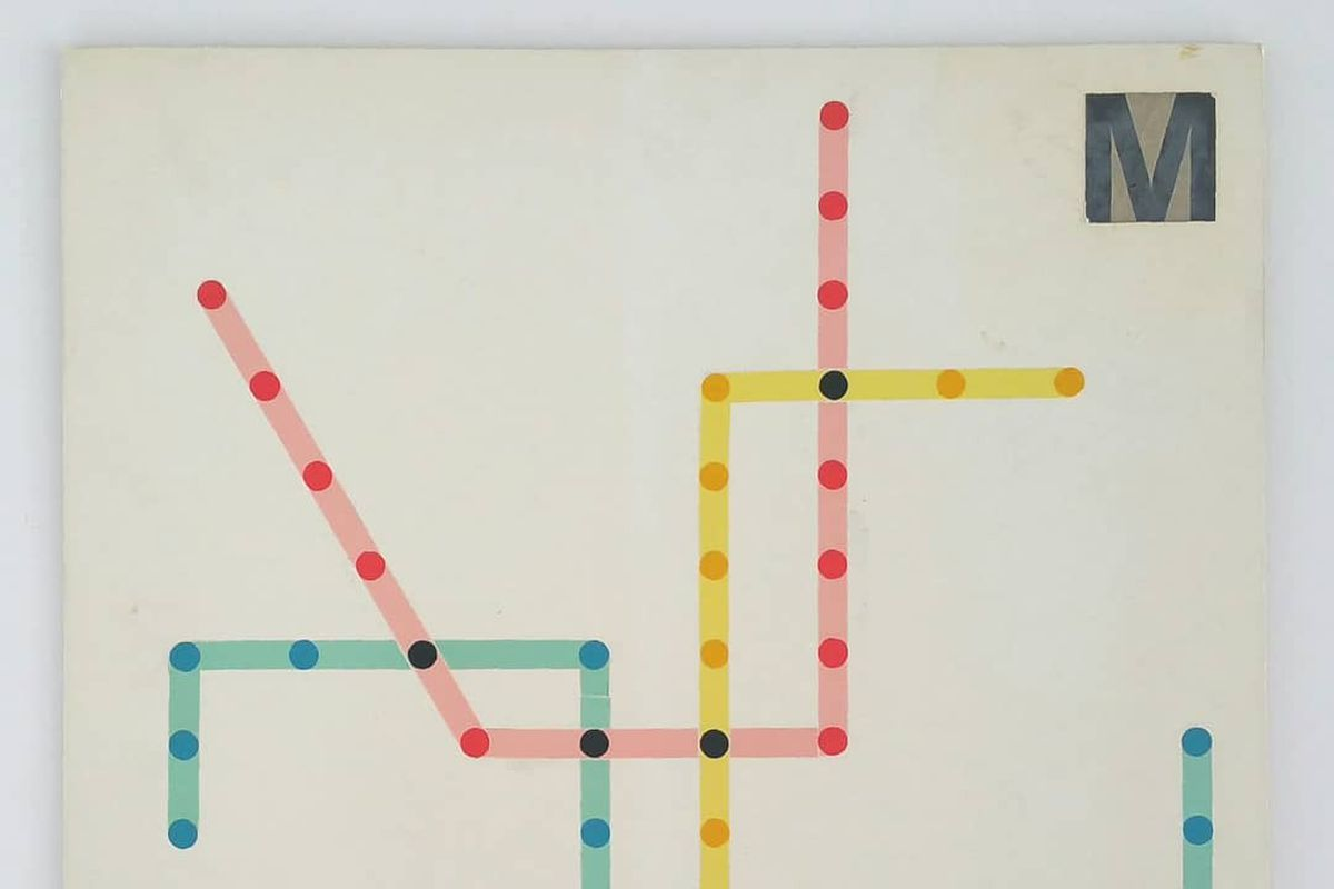 Massimo Vignelli maps for the D C  metro uncovered - Curbed