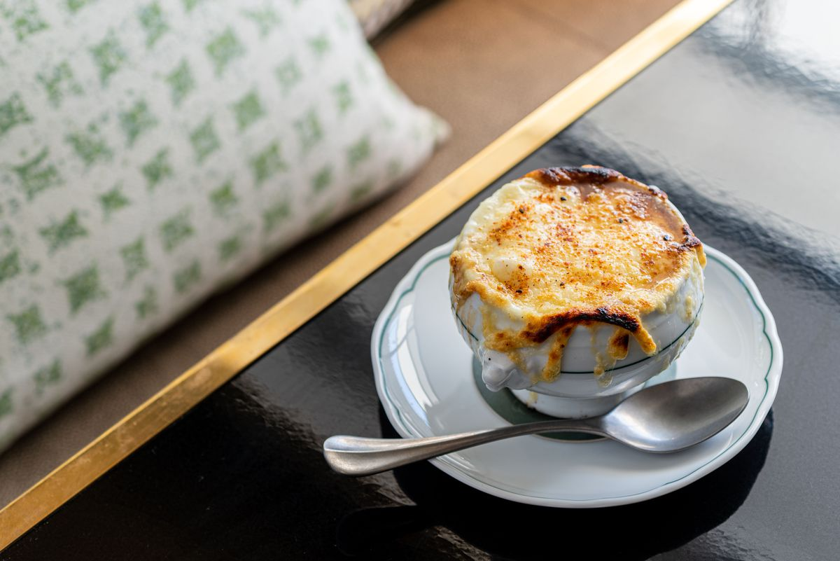 French onion soup at Lumiere.