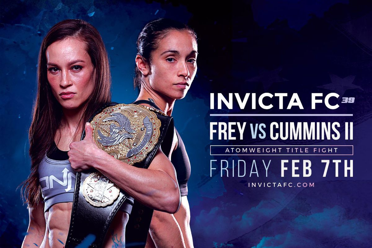 Kansas City, Mo. – Invicta Fighting Championships will kick off its 2020 slate with a stacked fight card on Friday, Feb. 7. Invicta FC 39 will take place from Memorial Hall in Kansas City, Kan., and will stream live and exclusively on UFC Fight Pass at 7 p.m. CT.
