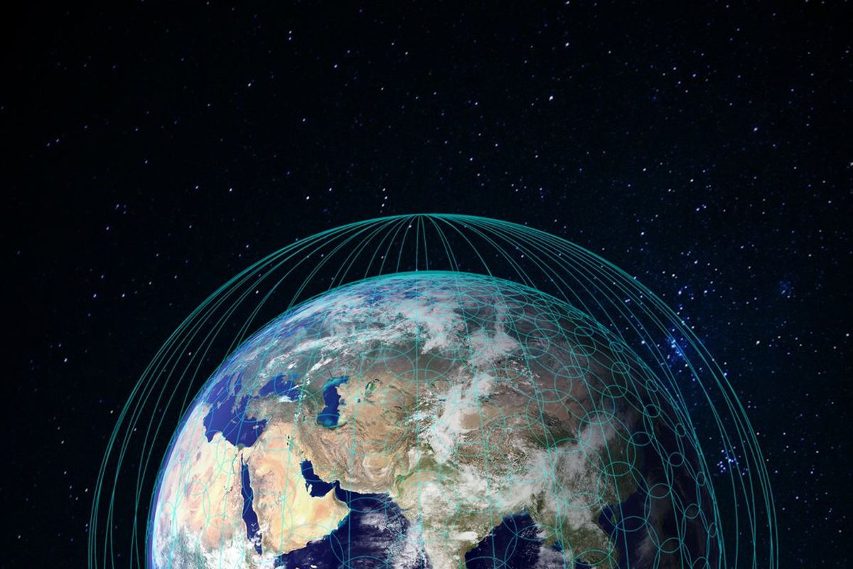 Spacex And Oneweb Are Racing To Build An Internet In Space Vox Satellite Wiring Diagram A Shows The Coverage Areas Of Each Onewebs Planned Satellites