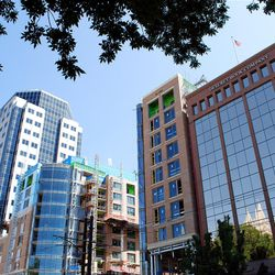 With window panels that reflect the seasons of Temple Square across South Temple, Deseret Book's headquarters has become an element of City Creek Center.