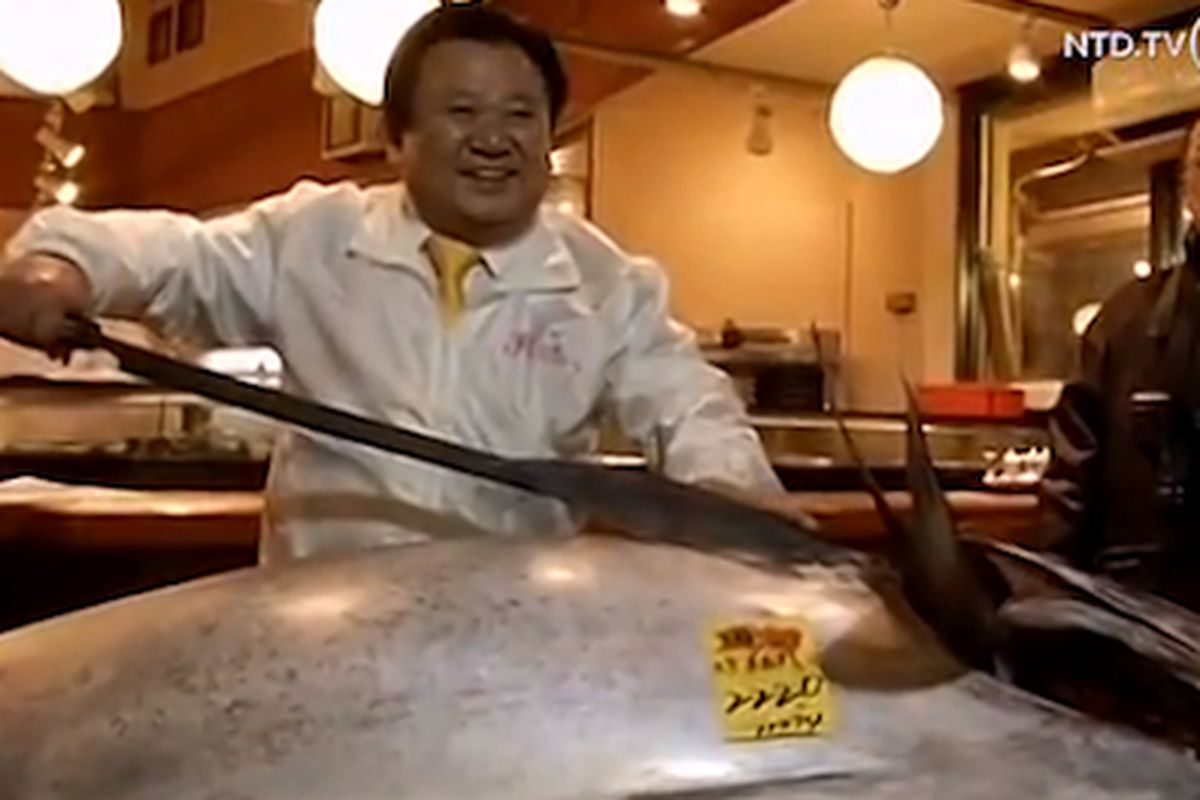 Kiyoshi Kimura A Businessman Who Owns The Sushi Zanmai Chain Of Restaurants In An Has Once Again Set Record For Purchasing Most Expensive