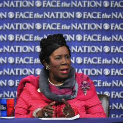 """In this Sunday, April 22, 2012, photo provided by CBS News House Homeland Security Committee member, Rep. Sheila Jackson Lee, D-Texas, speak on CBS's """"Face the Nation"""" in Washington. Jackson Lee spoke about the Secret Service scandal."""