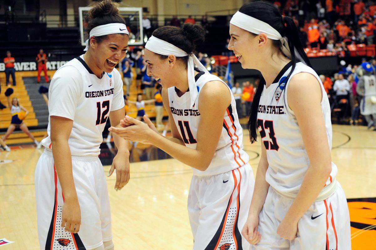 Behind Gabby Hanson's career high Oregon State defeats California 70 to 48