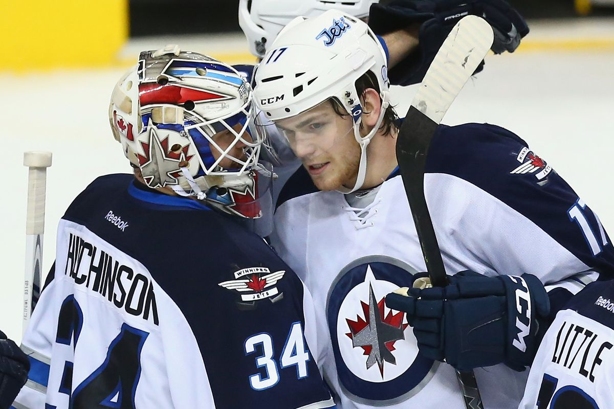 Hutchinson celebrates another win with Adam Lowry - Photo Credit