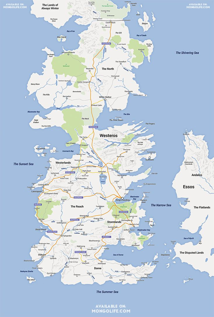 Someone Made Game Of Thrones Into A Google Map And It S Amazing Vox