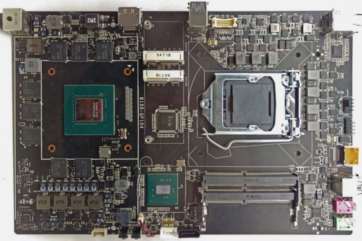 Here's what a GTX 1070 looks like as part of a motherboard