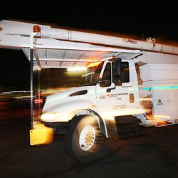 Rocky Mountain Power crews leave Salt Lake City on Sunday, Sept. 10, 2017, for Hurricane Irma due to the expected electricity outages. The crews will assist teams from Georgia Power and include 30 journeymen, nine managers, one company equipment mechanic and 12 contract journeymen.