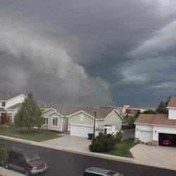 A storm that hit the Wasatch Front on Friday, August 7, 2015, is photographed from West Valley City.