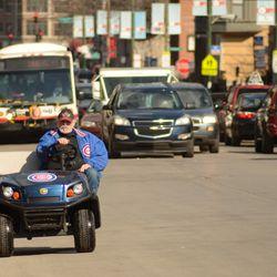 3:41 p.m. Traffic on Addison -