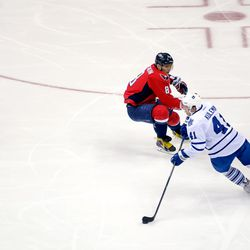 Kulemin WIth Puck By Ovechkin