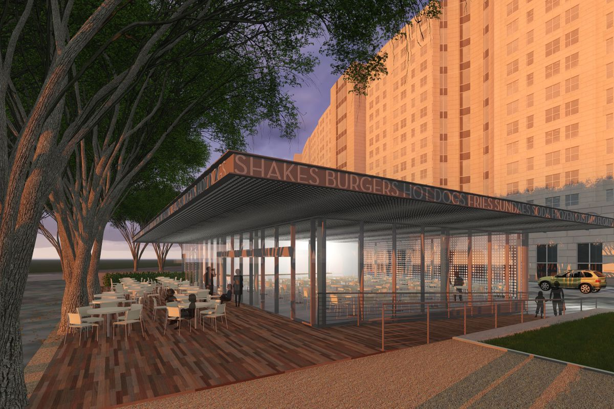 A rendering of the future Shake Shack Dallas