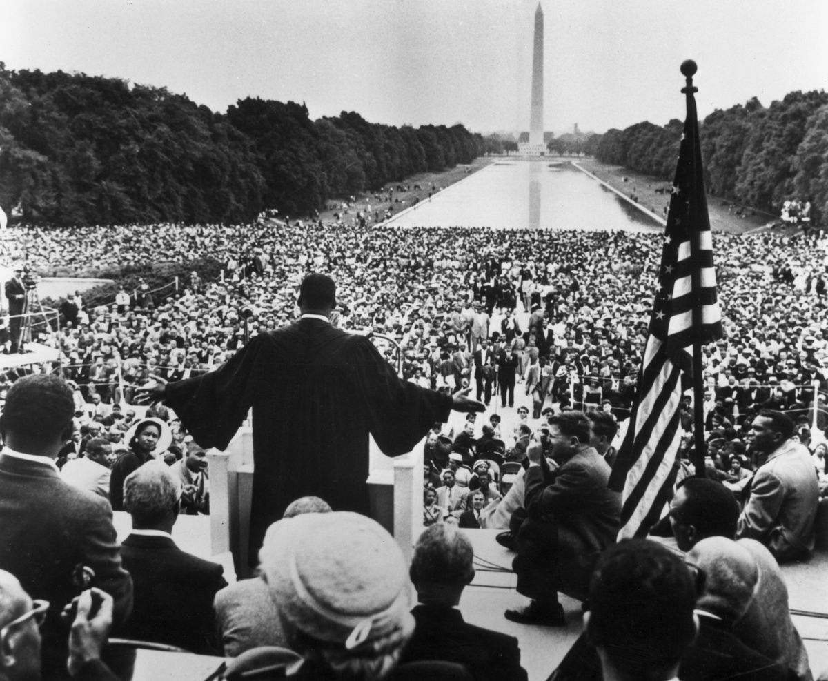 Martin Luther King speaks on the National Mall
