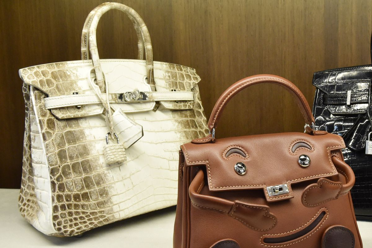 5f4e934a6157 The Hermès Himalaya Birkin at auction in 2014. Photo  Stan Honda AFP Getty  Images