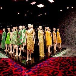 A collection of DVF's signature prints line the walls.