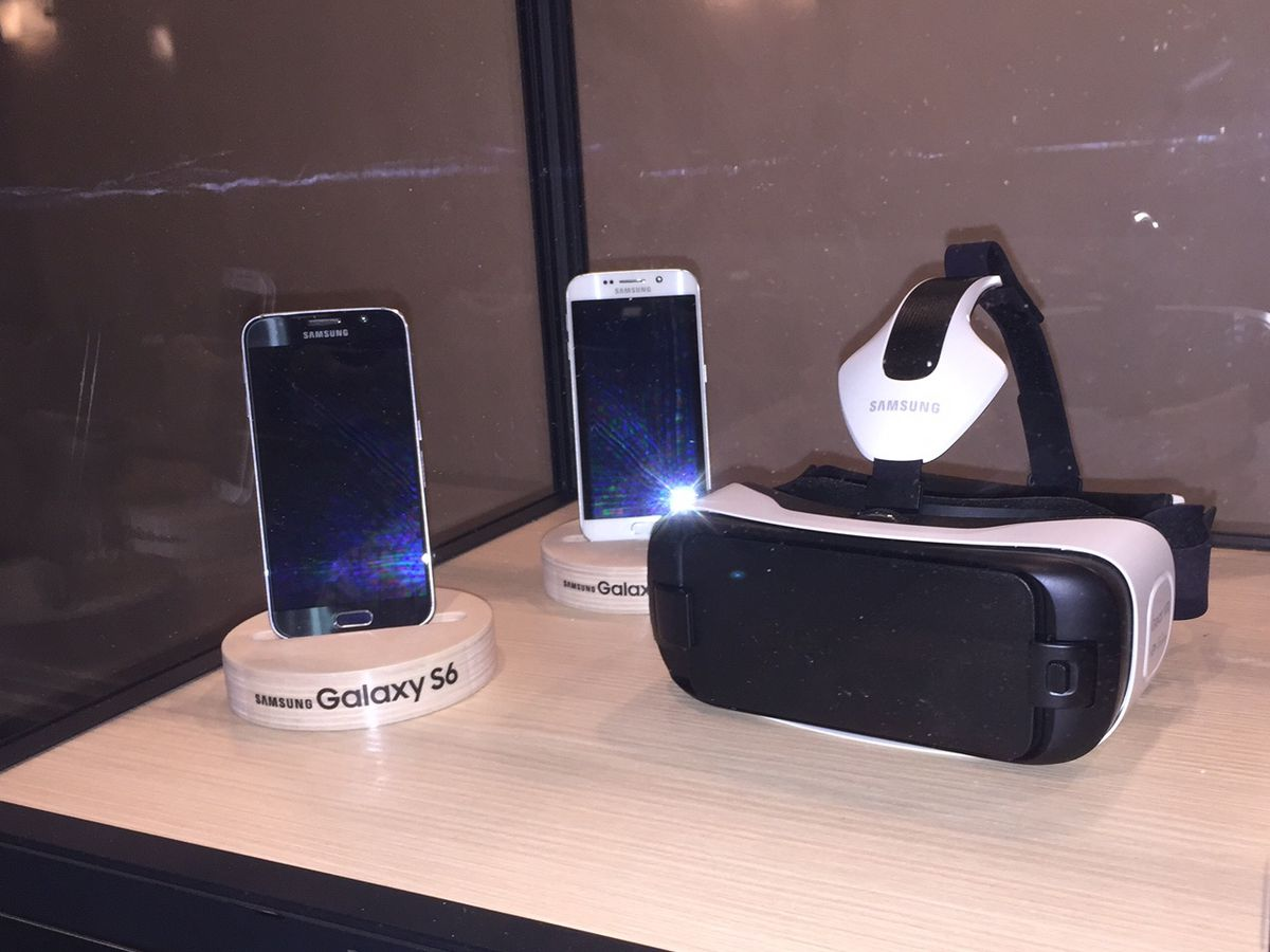 The first version of the Gear VR, on display at Oculus Connect