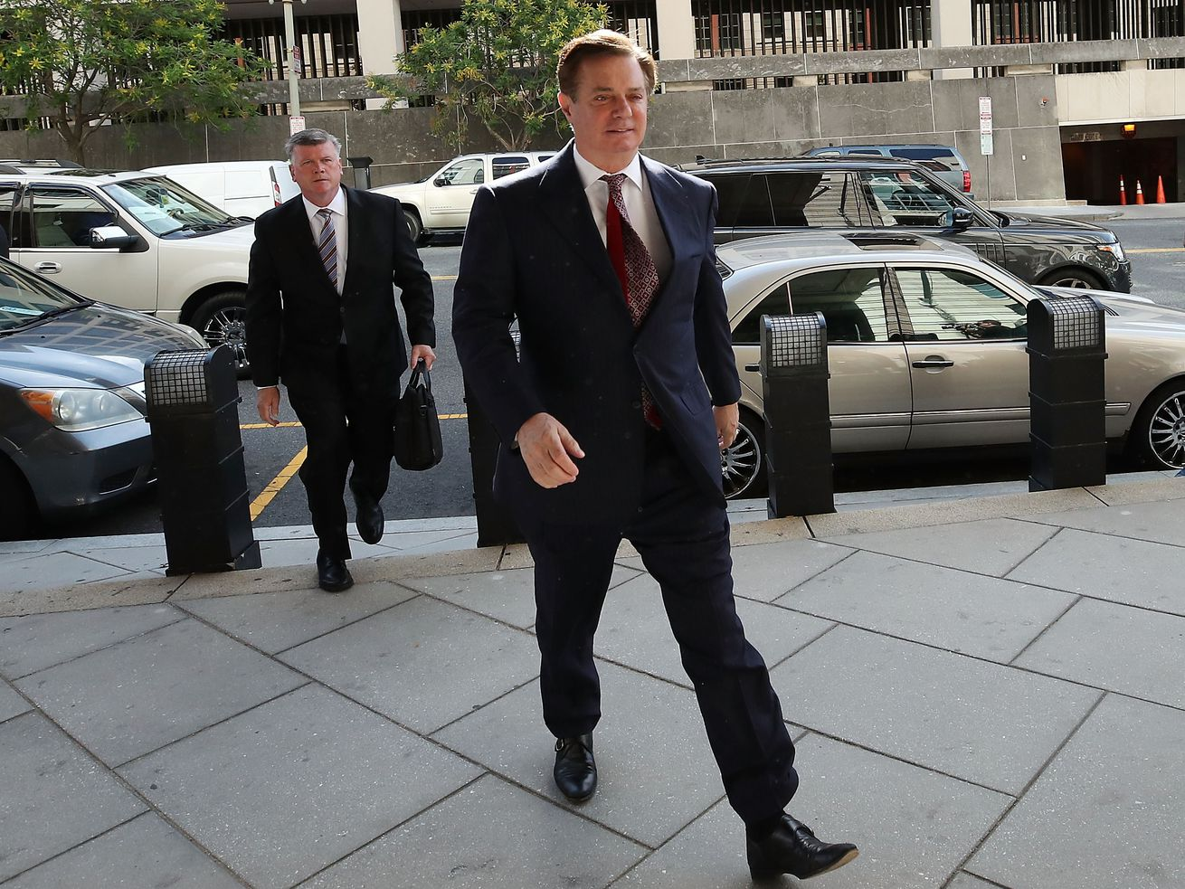 Paul Manafort arriving at a Washington, DC court hearing in June 2018.