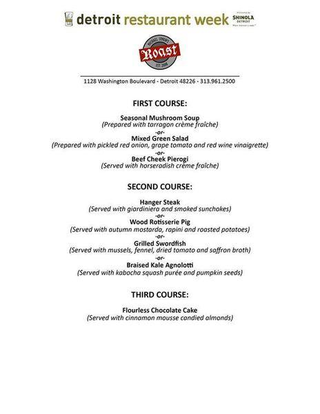 Detroit Restaurant Week Menus Eater Detroit