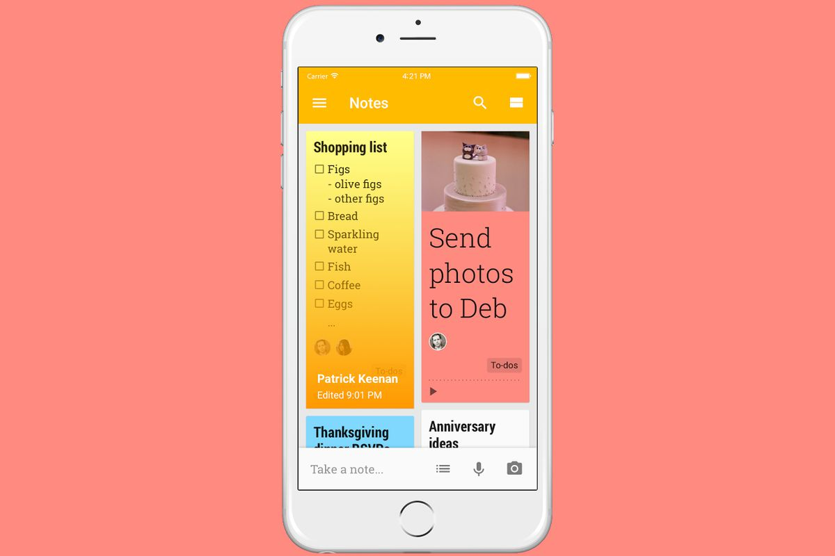 google keep iphone keep is now available for iphone and the verge 9427