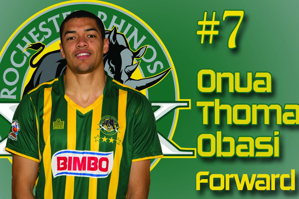Attacking left back Onua Obasi assisted both of Rochester's goals in a two minute flurry.