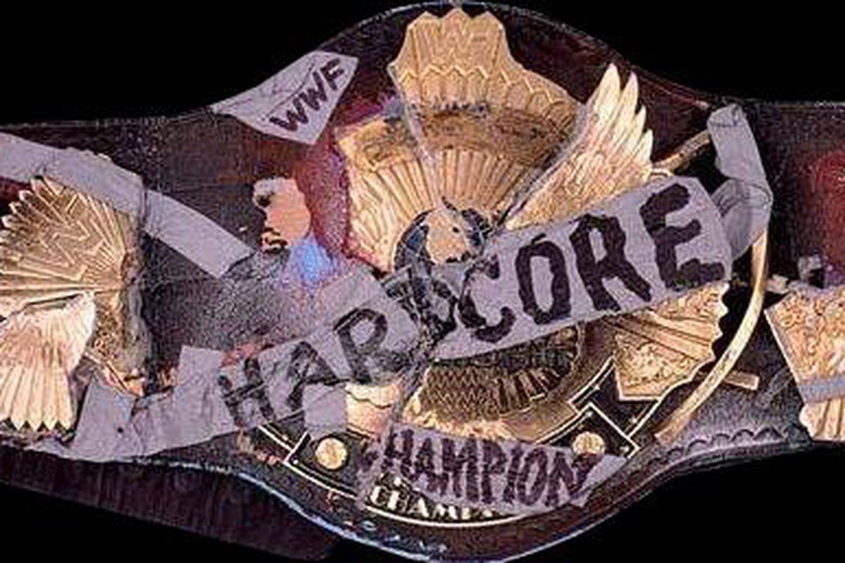 Image result for wwf hardcore title belt