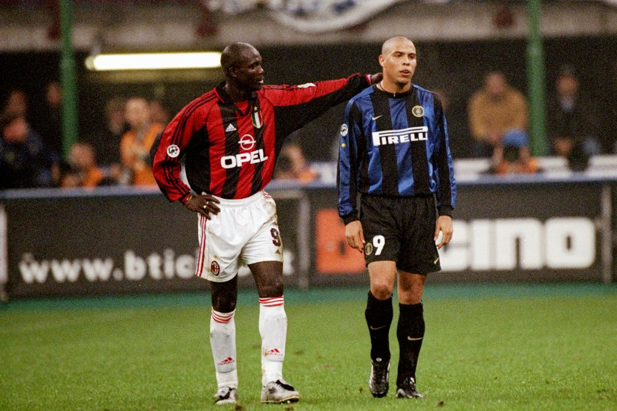 """George Weah and """"Il Fenomeno"""" Ronaldo. So much talent in this photo."""