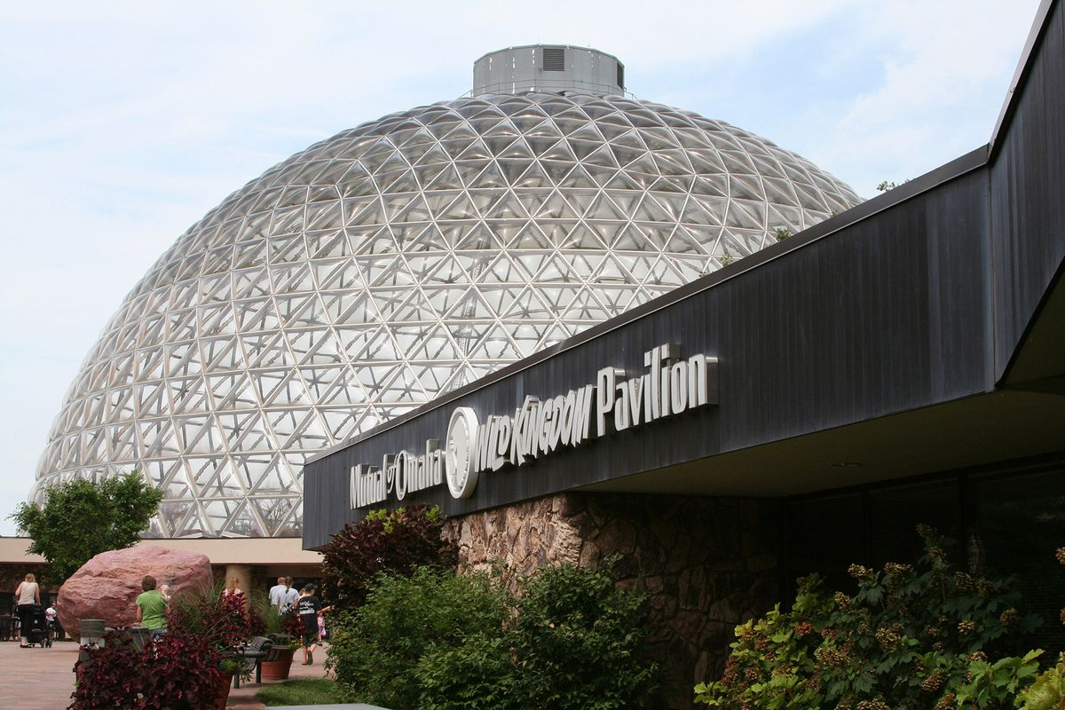 The Henry Doorly Zoo boasts a huge geodesic dome protecting