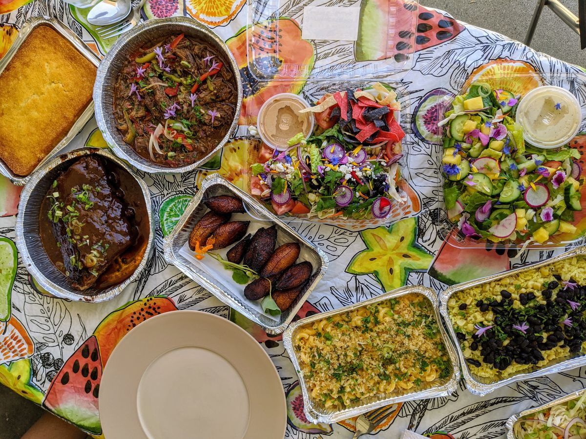 For a restaurant-style family meal delivered to your home: Bites & Bashes .
