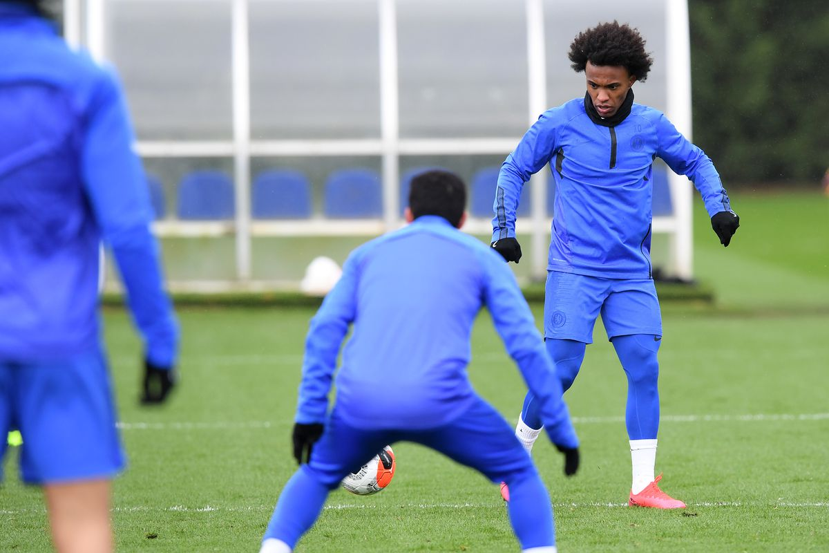 Chelsea Training Session and Press Conference
