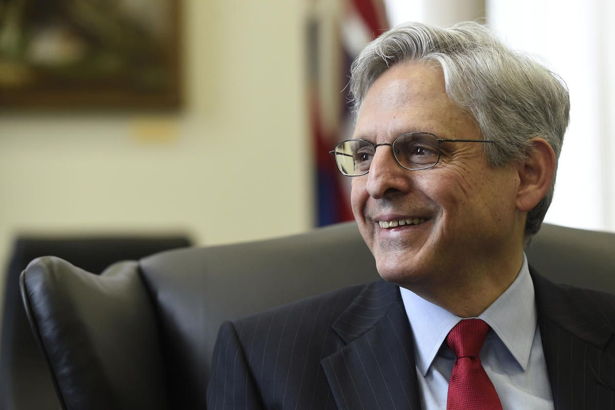 Supreme Court nominee Merrick Garland smiles during his meeting with Sen. Brian Schatz, D-Hawaii, on Capitol Hill in Washington, Tuesday, May 10, 2016.