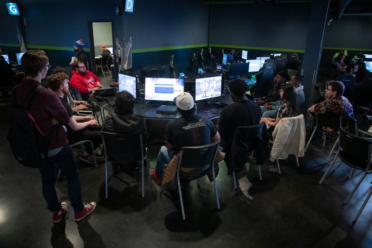 Video-game tournament participants at Ignite Gaming Lounge, 3341 N. Elston Ave.