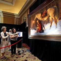 """""""The Prayer at Valley Forge"""" by Arnold Friberg is on display at the Independence Through History Museum in the Grand America in Salt Lake City on Friday, July 5, 2013. The painting depicts General George Washington praying during the winter of 1777-78 during an especially discouraging period of the Revolutionary War."""