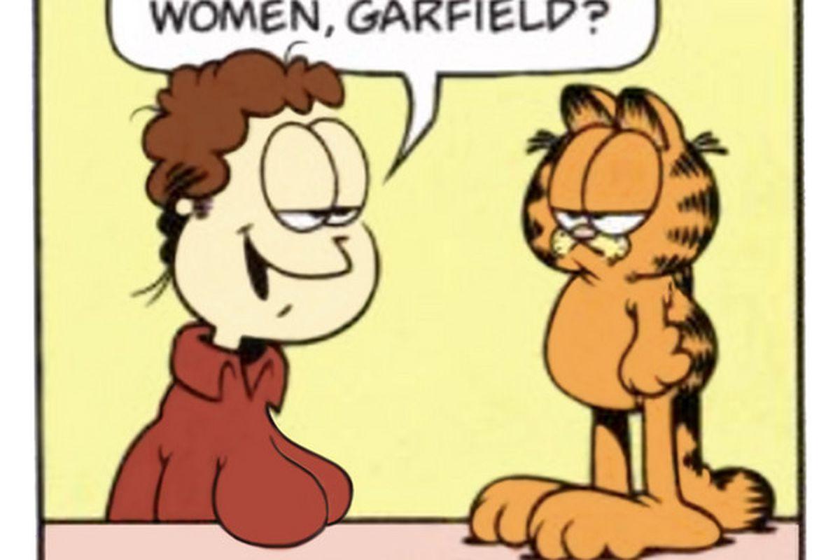 Funny Boob Cartoons updated cartoons: garfield if jon arbuckle had breast