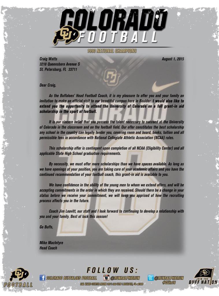 S Craig Watts Colorado Jim Leavitt Scholarship Letter (Admiral Farragut 2016)