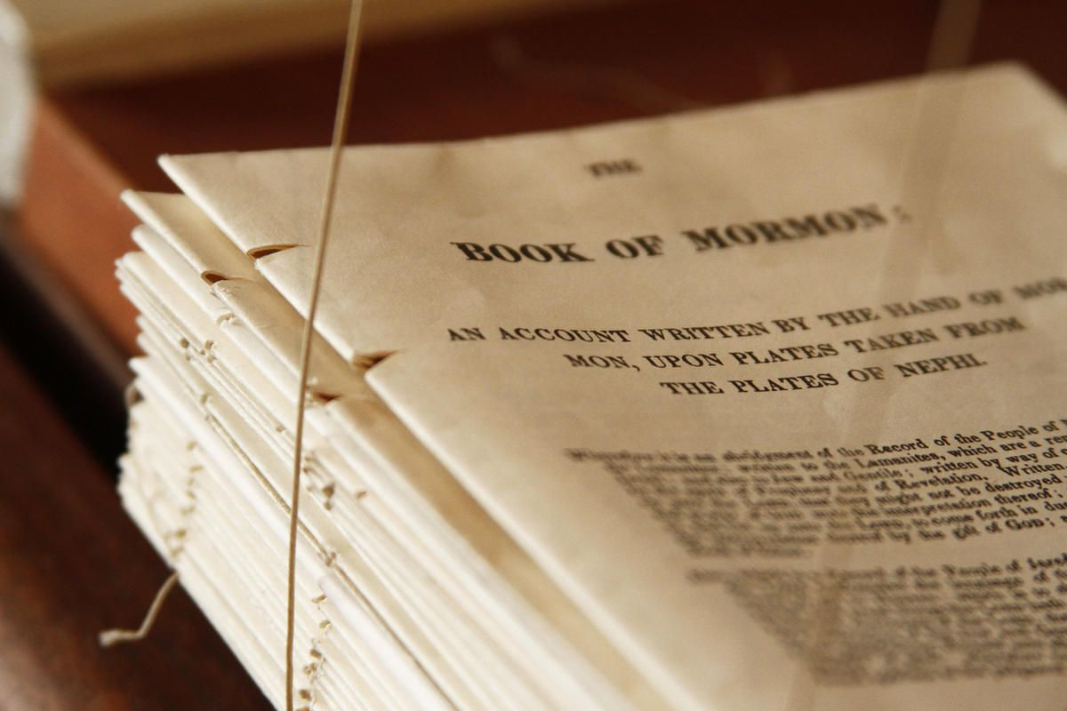 The first editions of the Book of Mormon were prepared and bound using old traditional methods. After printing the 592-page first edition of the Book of Mormon on sheets of paper, Church members, folded the sheets into folios to be sewn, glued and bound i