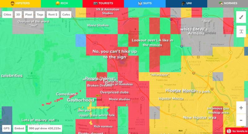 Hookup app map