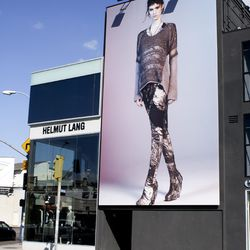 Before heading Downtown, the boys hit Helmut Lang on Melrose
