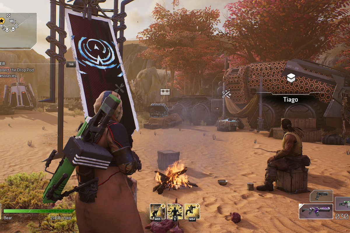 Outriders endgame camp and cosmetics