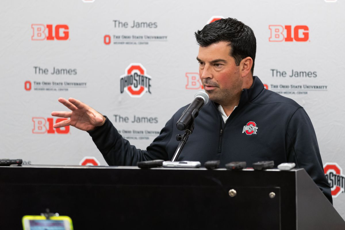 """Ryan Day press conference notes: Justin Fields is """"light years"""" ahead of schedule; team has more things to improve upon - Land-Grant Holy Land"""