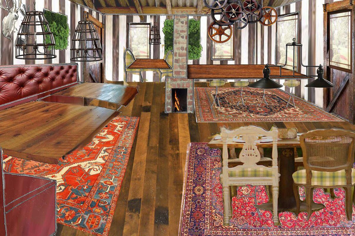 Rendering of Harold's Cabin Interior
