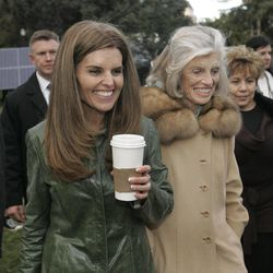"""FILE -- In this Jan. 4, 2007 file photo, Maria Shriver, left, wife of California Gov. Arnold Schwarzenegger, her mother, Eunice Kennedy Shriver, center and family housekeeper Mildred Baena, right, leave Capitol Park in Sacramento, Calif. In an interview with """"60 minutes"""" that is scheduled to air Sunday, Schwarzenegger says the affair he had with Baena, that led to a son, was """"the stupidest thing"""", he ever did to then wife Maria Shriver who filed for divorce last July."""